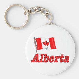 Canada Flag - Alberta Keychain