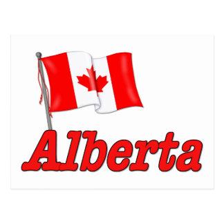 Canada Flag - Alberta Postcard