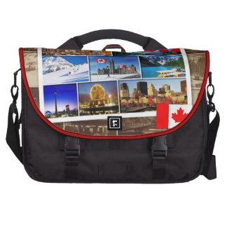 Canada Flag and Landscapes Bolsas De Portátil