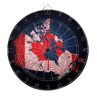 Canada Flag and Map Dartboard