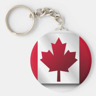 Canada Flag Basic Round Button Keychain