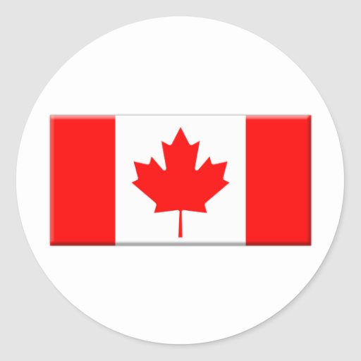 Canada-flag-bevelled edge classic round sticker