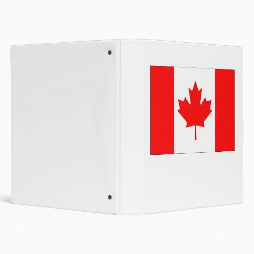 Canada Flag Vinyl Binders