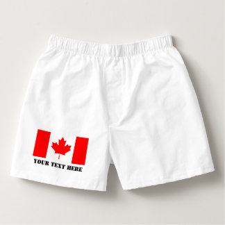 Canada flag boxer short or briefs for Canadian men