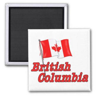 Canada Flag - British Columbia 2 Inch Square Magnet
