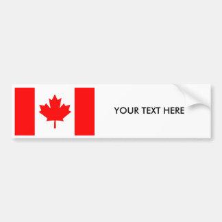 CANADA FLAG Bumper Sticker Car Bumper Sticker