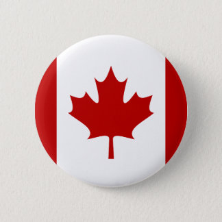Canada Flag Button Red