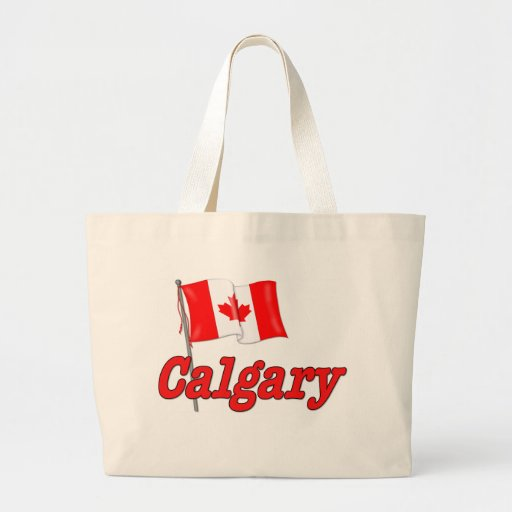 Canada Flag - Calgary Canvas Bags