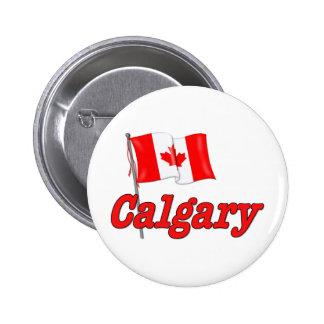 Canada Flag - Calgary 2 Inch Round Button