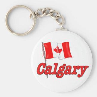 Canada Flag - Calgary Keychain