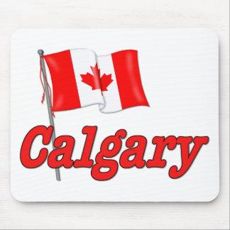 Canada Flag - Calgary Mouse Pads