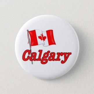 Canada Flag - Calgary Pinback Button