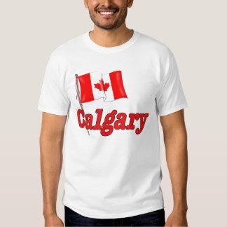 Canada Flag - Calgary T Shirt