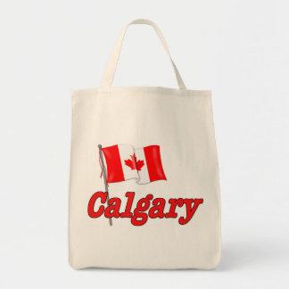 Canada Flag - Calgary Tote Bag