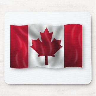 Canada Flag Canadian Country Emblem Leaf Maple Mouse Pad