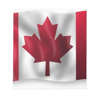 Canada Flag Canadian Country Emblem Leaf Maple Scratch Pad