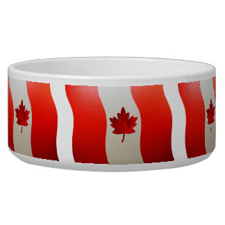 Canada Flag-Chrome Bowl