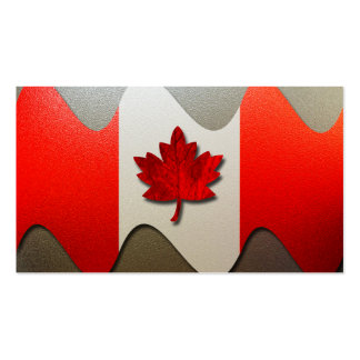 Canada Flag-Chrome Double-Sided Standard Business Cards (Pack Of 100)