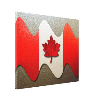 Canada Flag-Chrome Canvas Print