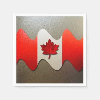 Canada Flag-Chrome Napkin