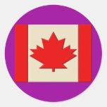 Canada Flag Classic Round Sticker