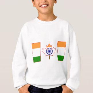 Canada Flag cut from India Flag Sweatshirt