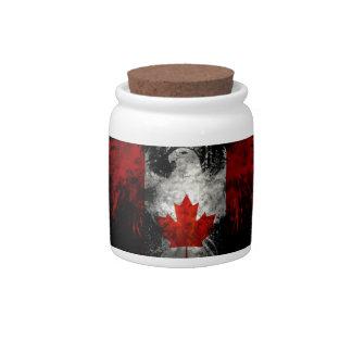 CANADA FLAG EAGLE CANDY JARS