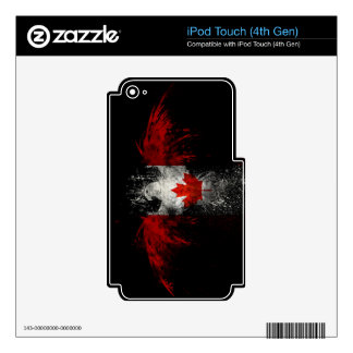 CANADA FLAG EAGLE iPod TOUCH 4G DECAL