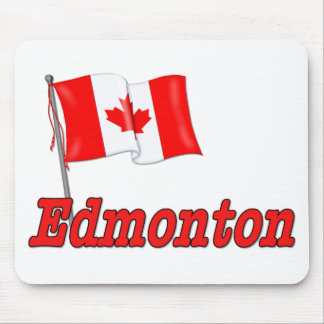 Canada Flag - Edmonton Mouse Pad
