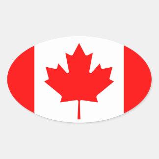 Canada* Flag European-style Oval Sticker