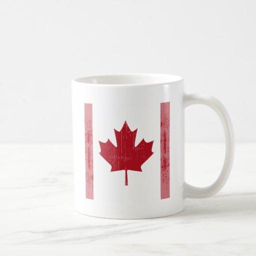 CANADA FLAG FADED CLASSIC WHITE COFFEE MUG