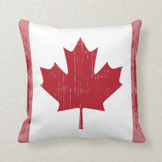 CANADA FLAG FADED THROW PILLOW