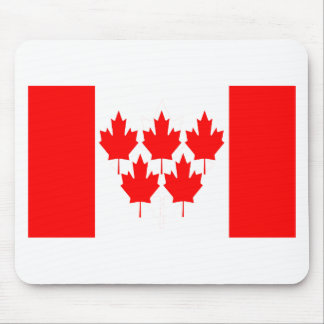 Canada Flag Five Leaf Mouse Pad