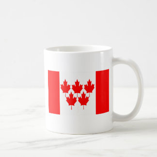 Canada Flag Five Leaf Coffee Mugs