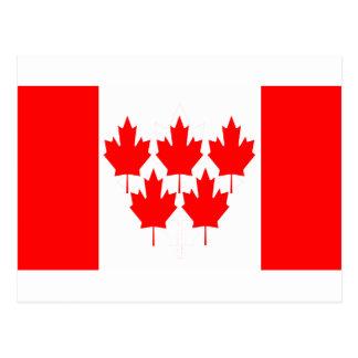 Canada Flag Five Leaf Post Cards