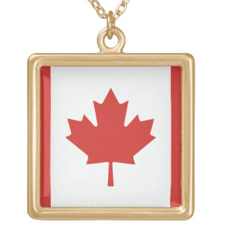 Canada Flag Gold Plated Necklace