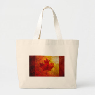 Canada Flag Grunge Background Illustration Large Tote Bag