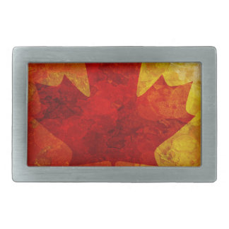 Canada Flag Grunge Background Illustration Rectangular Belt Buckle