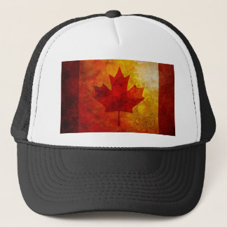 Canada Flag Grunge Background Illustration Trucker Hat
