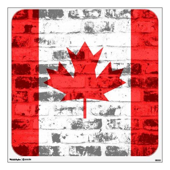 Canada Flag Grunge Wall Sticker