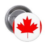 Canada flag, Happy Canada Day Pinback Button