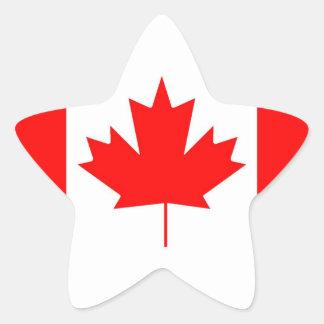 Canada flag, Happy Canada Day Star Stickers