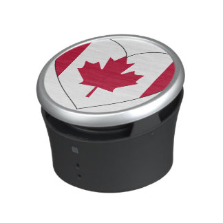 Canada Flag Heart Bluetooth Speaker