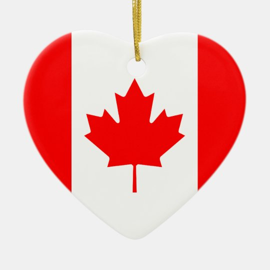 Canada Flag Heart Ornament
