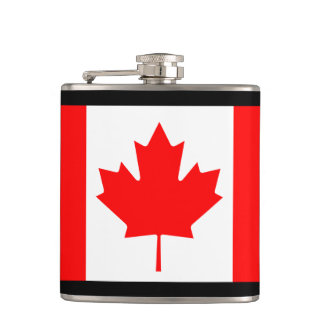 Canada Flag Hip Flask