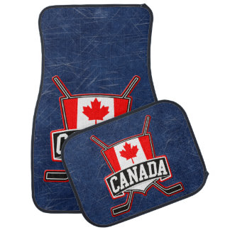 Canada Flag Hockey Logo Car Mat