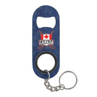 Canada Flag Hockey Logo Keychain Bottle Opener