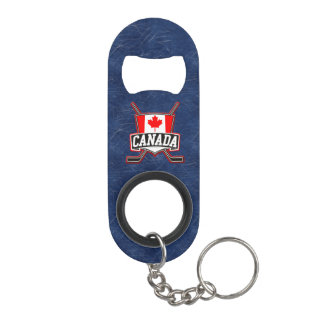 Canada Flag Hockey Logo Keychain Bottle Opener