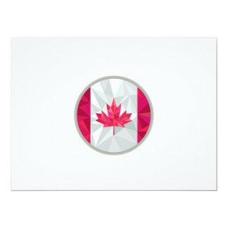 Canada Flag Icon Circle Low Polygon 6.5x8.75 Paper Invitation Card