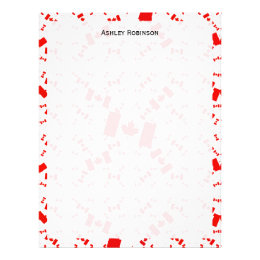 Canada Flag in Multiple Colorful Layers Askew Letterhead